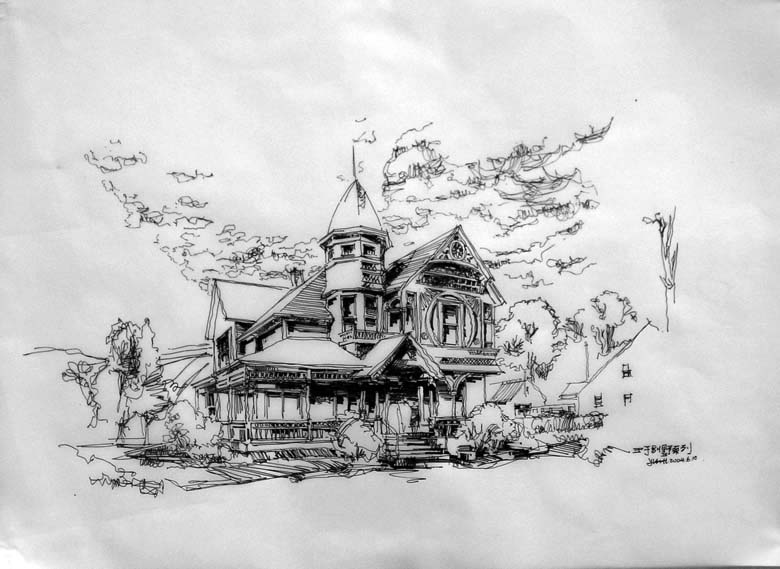 王子别墅系列--手绘 - 深圳房地产信息网论坛