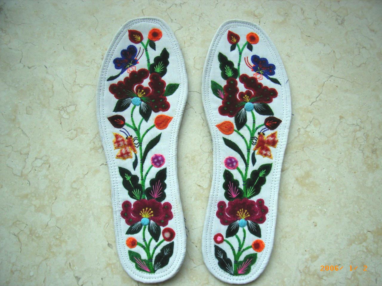 绒线鞋编织花样
