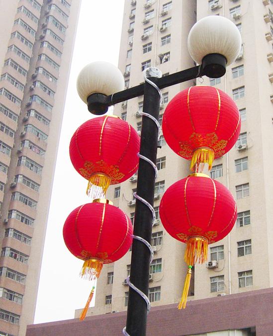 > 新年将至看看树上的红灯笼