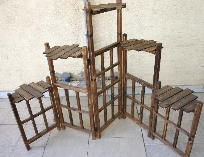 可摆放花盆,工艺品的隔断,五片组合可折叠(长1.92米,高1.