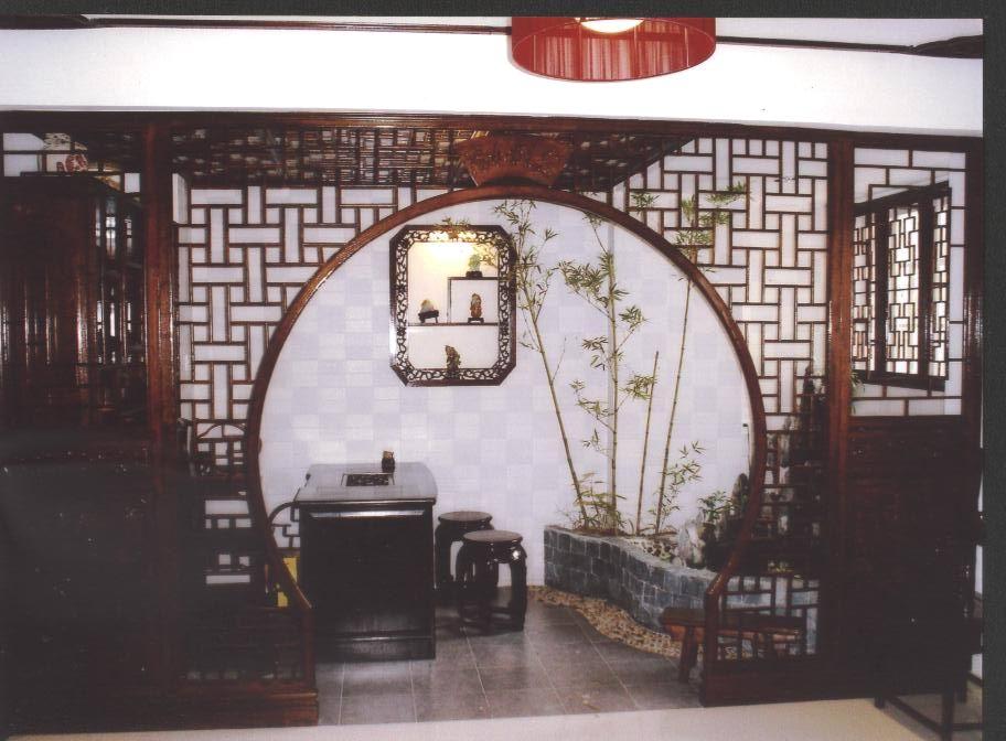 室内装修博古架月亮门设计图