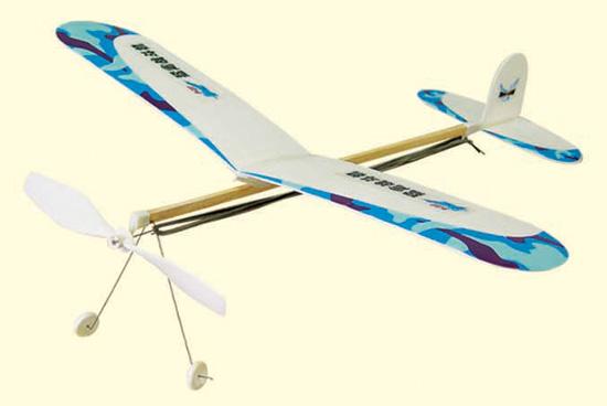 橡皮筋螺旋桨动力滑翔飞机    ·名称:橡筋动力系列   ·规格