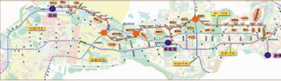 深圳brt一号线线路图.