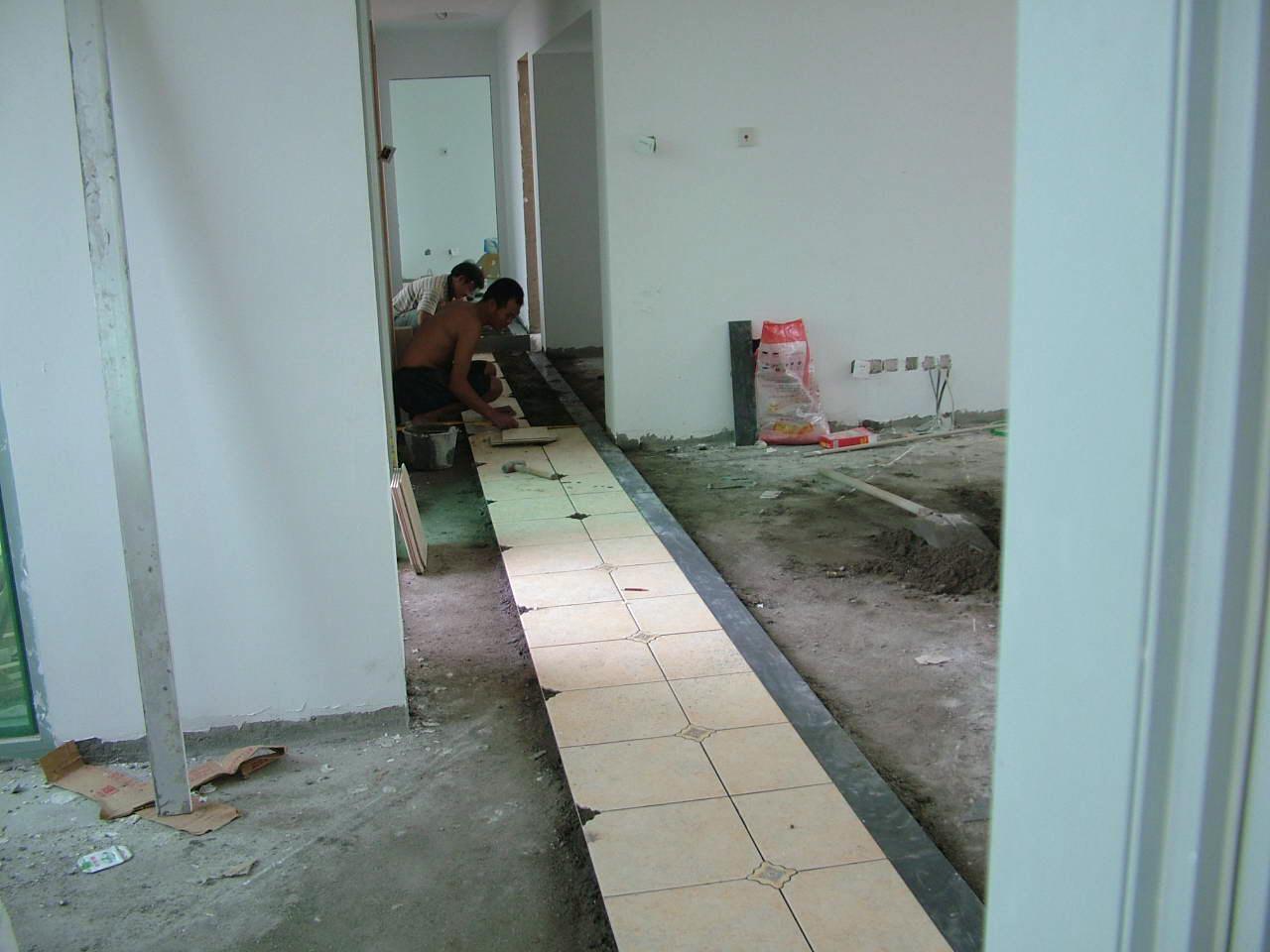 走廊贴墙砖效果图