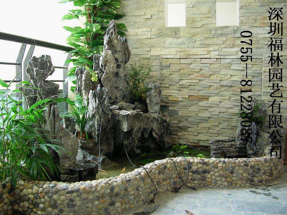 家庭庭院假山鱼池风水有哪些要注意的呢?图片