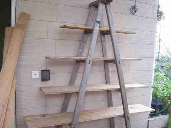 自制木制花架图片