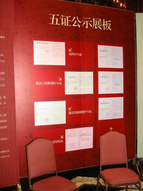 五证公示展板