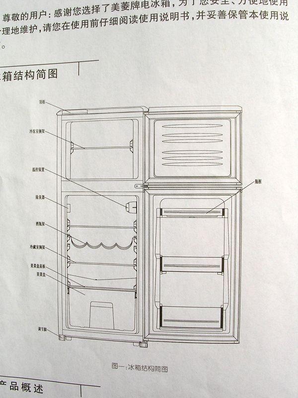 冰箱内部结构图