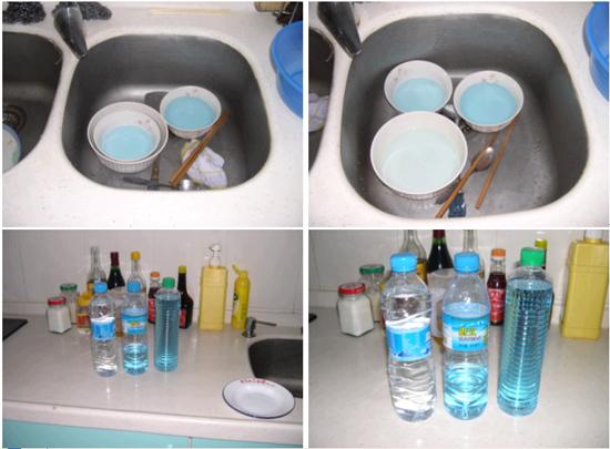 如果倒流的马桶水  没有用蓝色洁厕剂的话