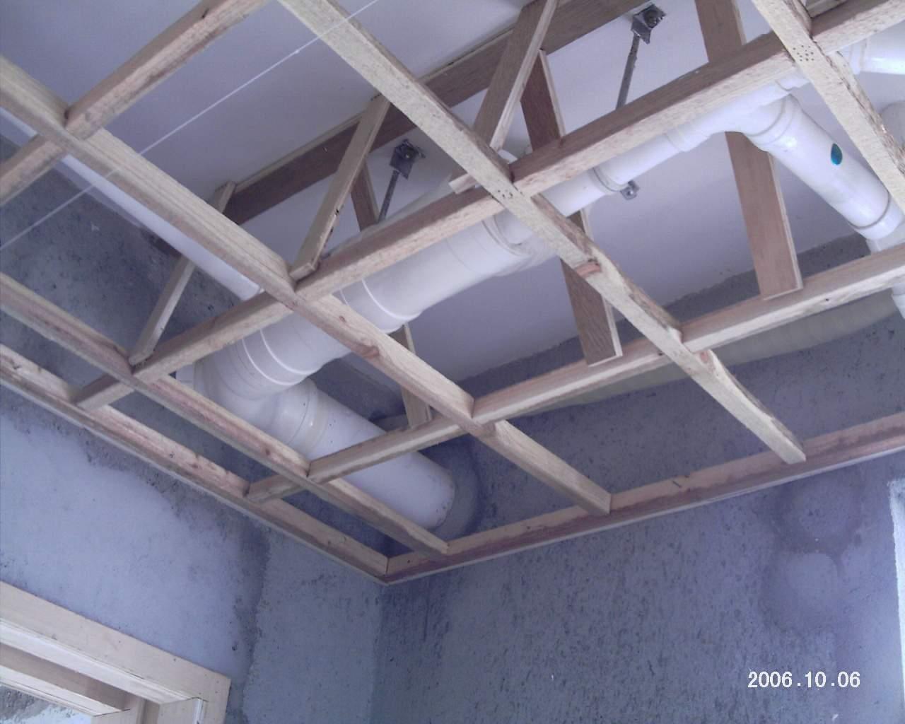 吊顶木架结构图