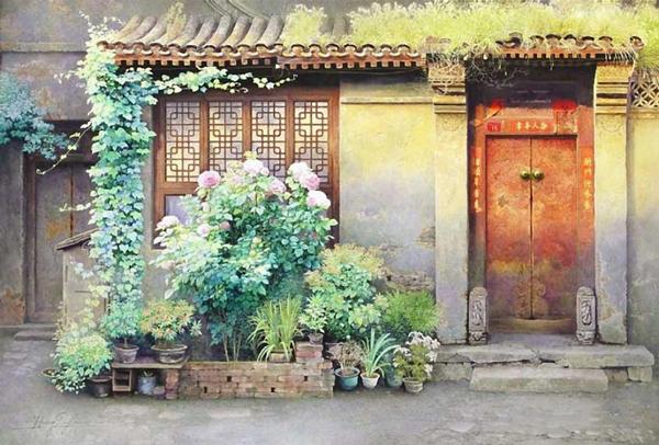 看我找的老房子水彩圖!畫的真是太棒了!