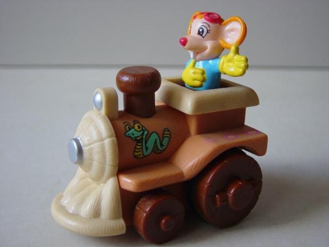 小动物开火车,猴子和大耳朵鼠