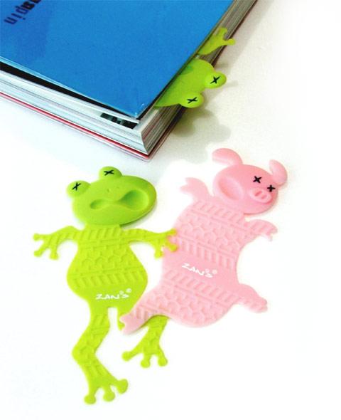 超级可爱的青蛙书签