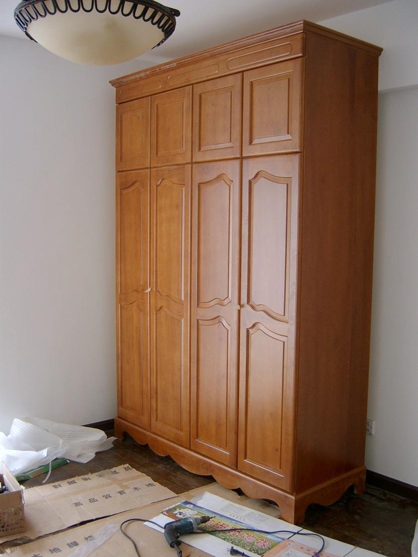 > 我家的实木衣柜--安装记