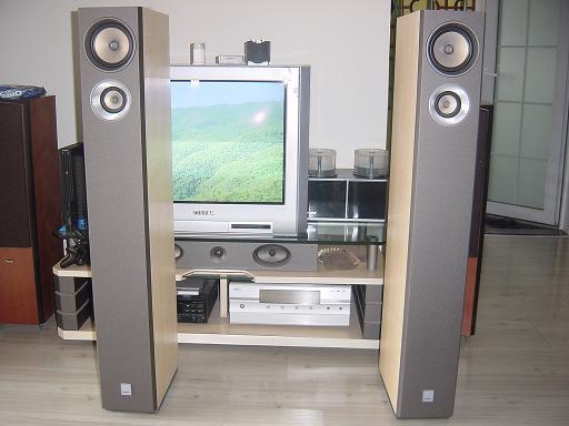 出售自用爱浪x9800智能家庭影院功放一台和俩个主音箱