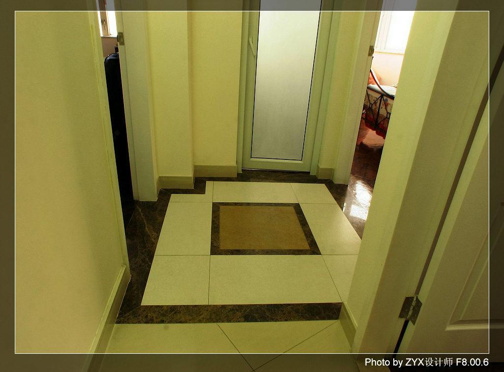 走廊尽头是大理石拼花.图片