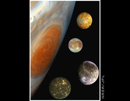 将它们放在巨大的木星旁边可以直观地看到大小对比