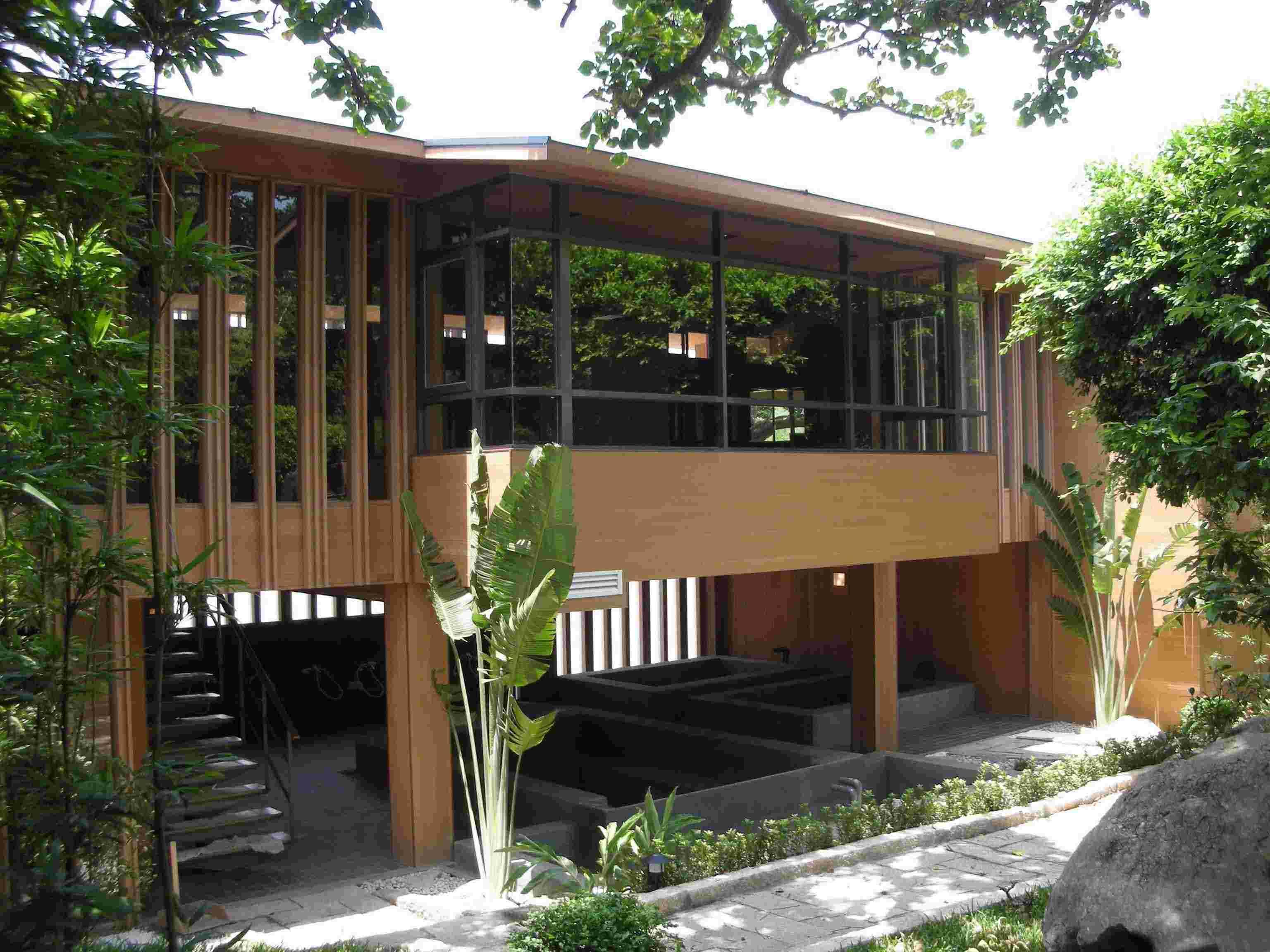 木塑室内地板,墙板,浴室,走道,外墙的运用实例