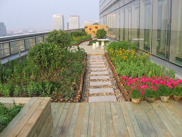 威海庭院,威海防腐木露台,阳台,威海小院,花园等