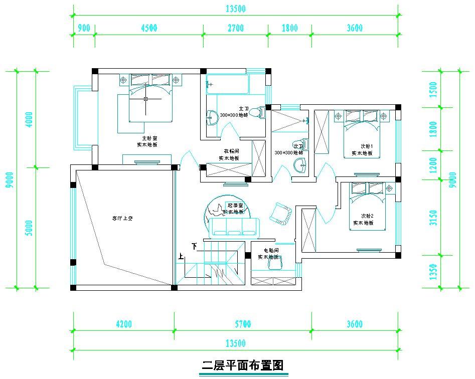 复式房,已有设计图,请提出改进建议图片