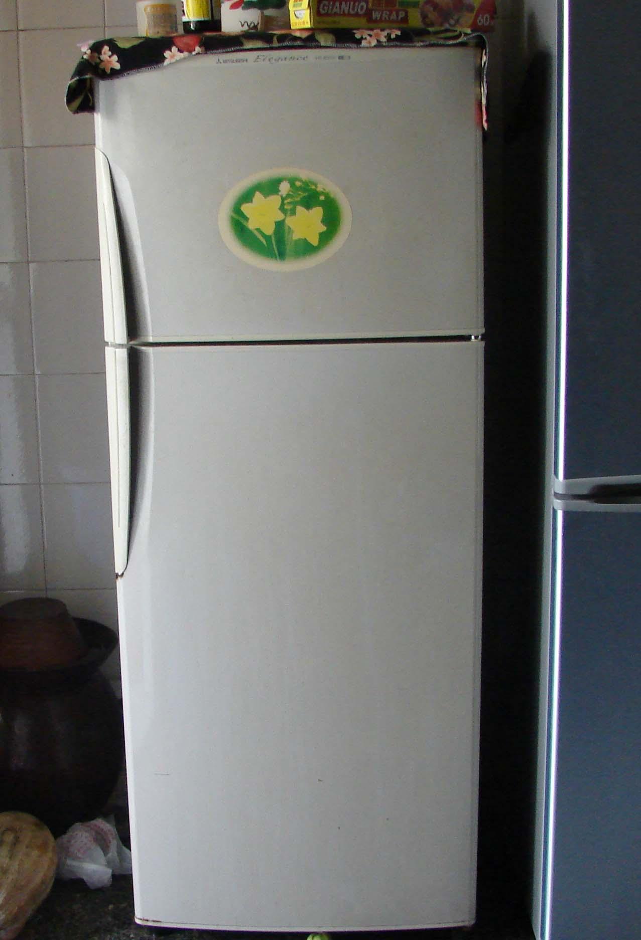 > 转三菱双门冰箱一台!