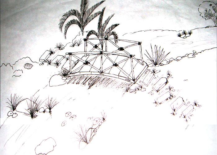 > 上些景观手绘图,很笨拙的线条,大家别笑话喔!(内空)