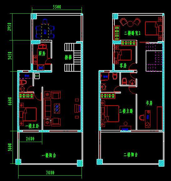 我的房子我设计——6-d户型布局设计图
