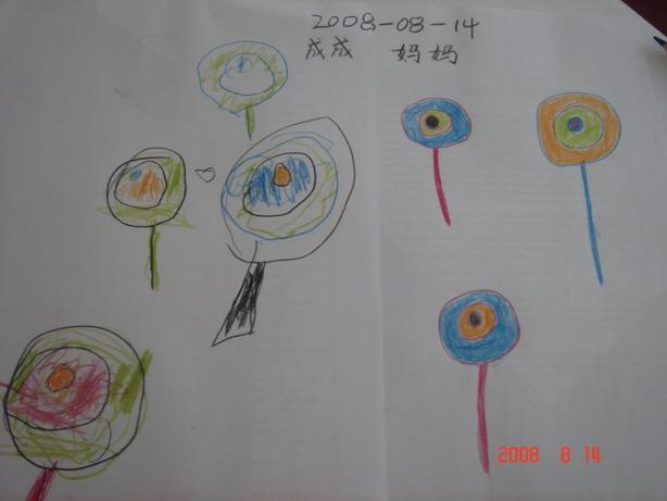 两岁四个月儿子的画画!