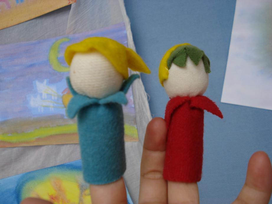 布织布指偶系列手工制作图片