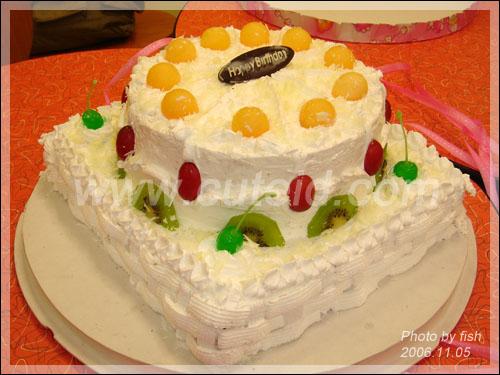 给自己做的生日大蛋糕