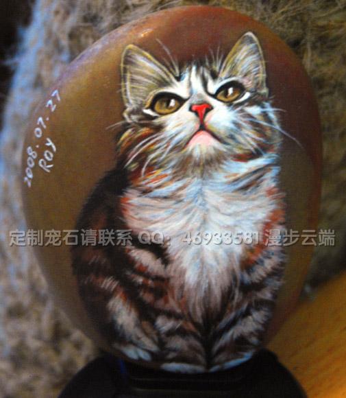 定制手绘石头猫——宠石小班