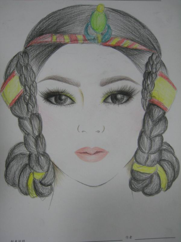 彩妆美人图素材